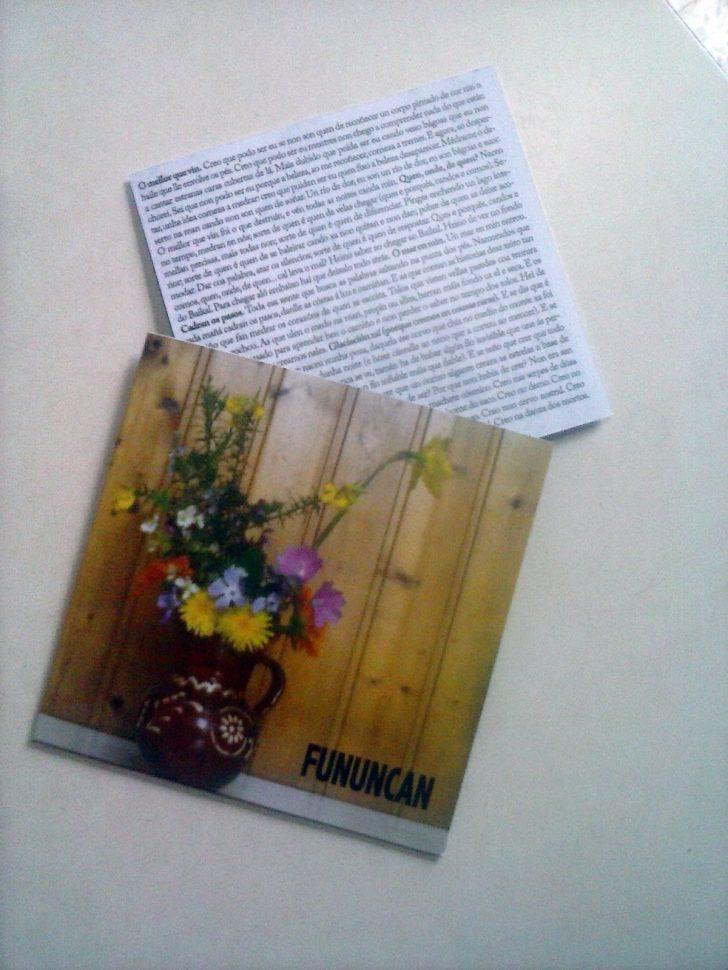 Fununcan 2016 cd editado en cartón con letras, portada